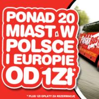 PolskiBus: bilety od 1 PLN* (terminy od 5 grudnia do 7 stycznia)