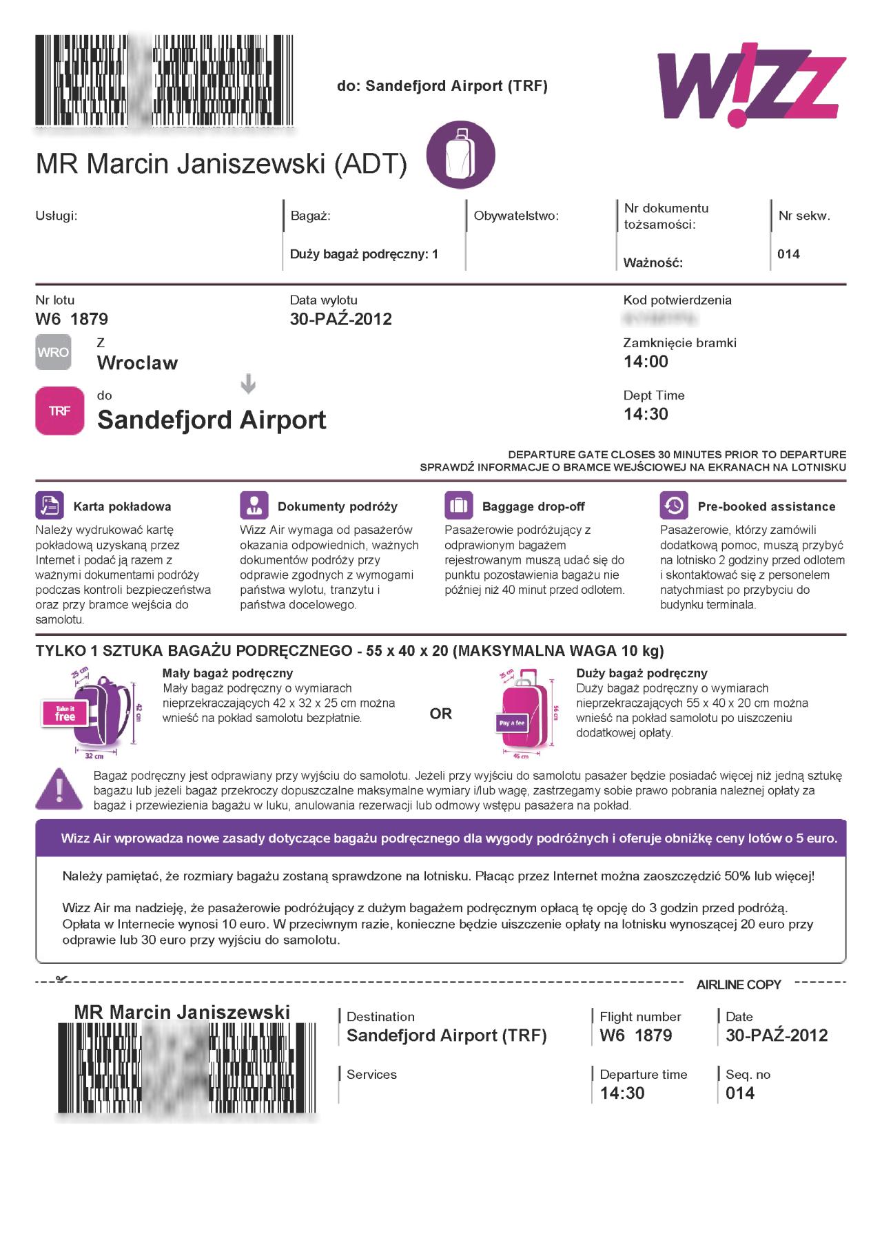 Wizz Air Zmiany W Odprawie Online Mleczne Podr E