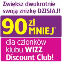 Wizz Air: do 90 PLN tańsze bilety dla członków Wizz Discount Club