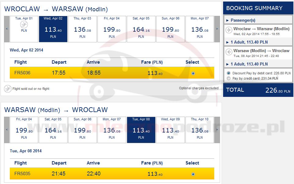 Rozkład Lotów Ryanair Gdańsk