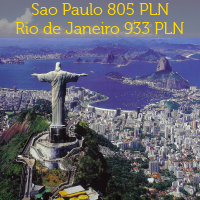 Sao Paulo od 805 PLN, Rio de Janeiro od 933 PLN z Europy! Do tego Peru, Bogota, Chile i wiele innych!