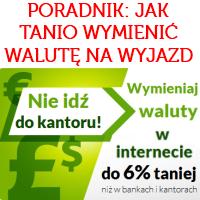 Poradnik: kupujemy walutę na wakacje (przegląd kantorów internetowych)