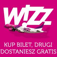 Wizz Air: kup jeden bilet, drugi otrzymasz gratis*