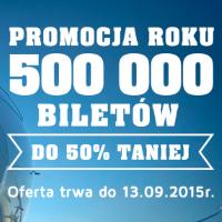 PLL LOT: Promocja roku 500 000 biletów do 50% taniej