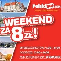 PolskiBus: weekendowa promocja z biletami od 8 PLN*