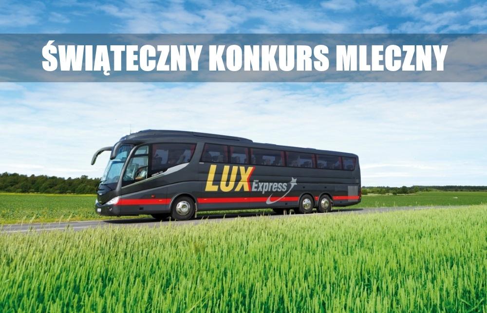 Świąteczny Konkurs Mleczny, Etap V – wygraj darmowe przejazdy od Lux Express