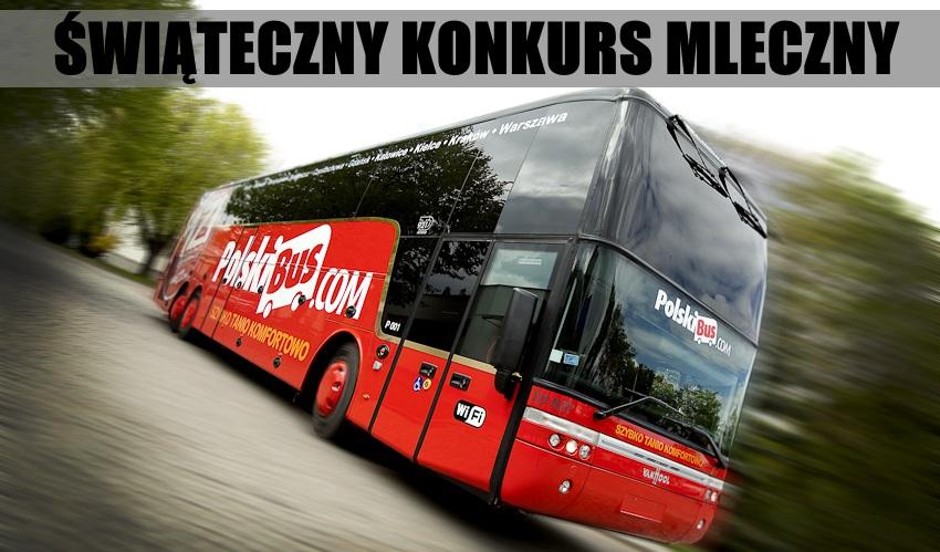 Świąteczny Konkurs Mleczny, Etap VII – wygraj bilety PolskiegoBusa