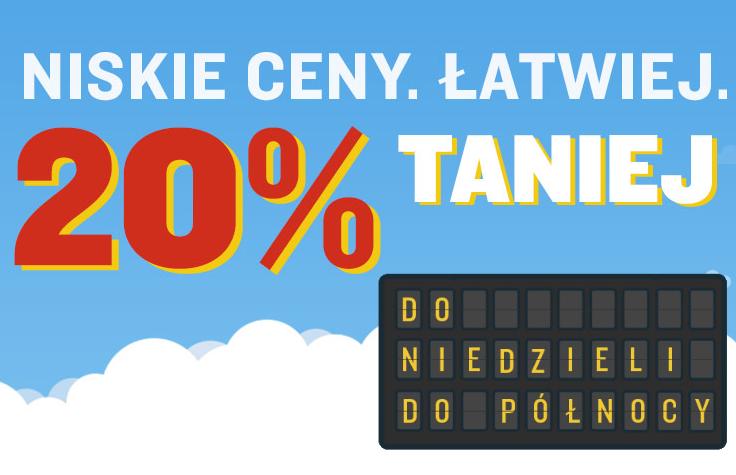 Ryanair: 20% zniżki na loty aż do niedzieli