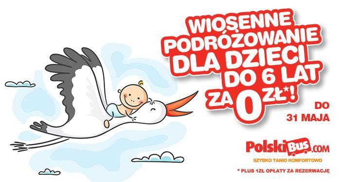 PolskiBus: dzieci podróżują za 0 PLN*