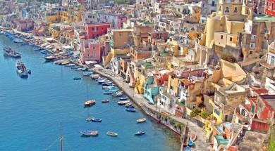 Neapol Włochy Wlochy Neapol-Wyspa-Port-Procida-Fotolia_49446970_S_social