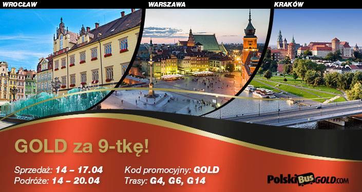 PolskiBusGold: wszystkie trasy za 9 PLN*