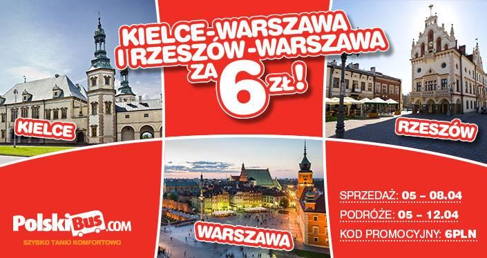 PolskiBus: krajowe podróże już od 6 PLN*