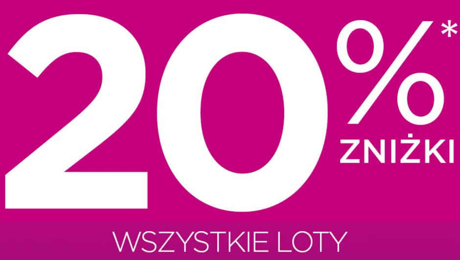 Wizz Air: do 20% zniżki na wszystkie loty (dla każdego!)