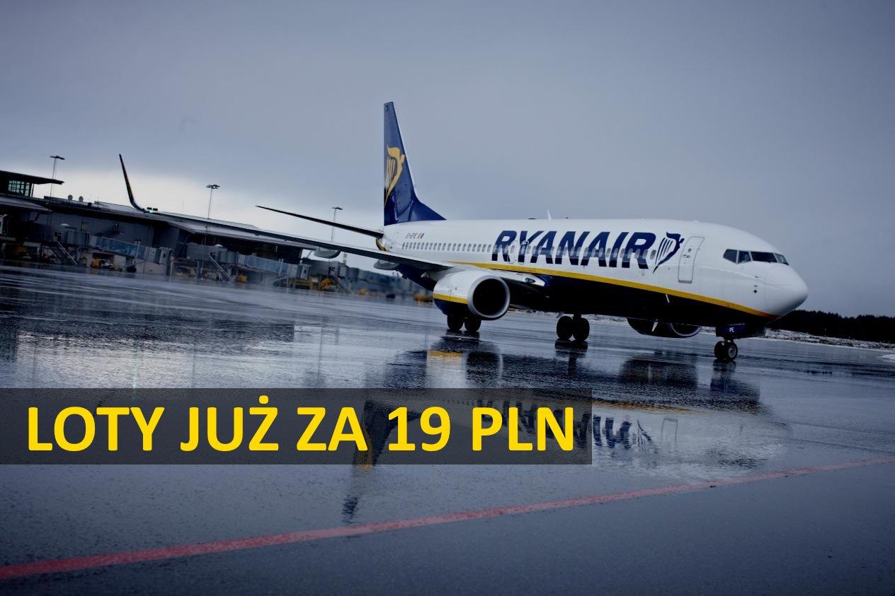 Ryanair: wiele tras z Polski już od 19 PLN w każdą stronę!