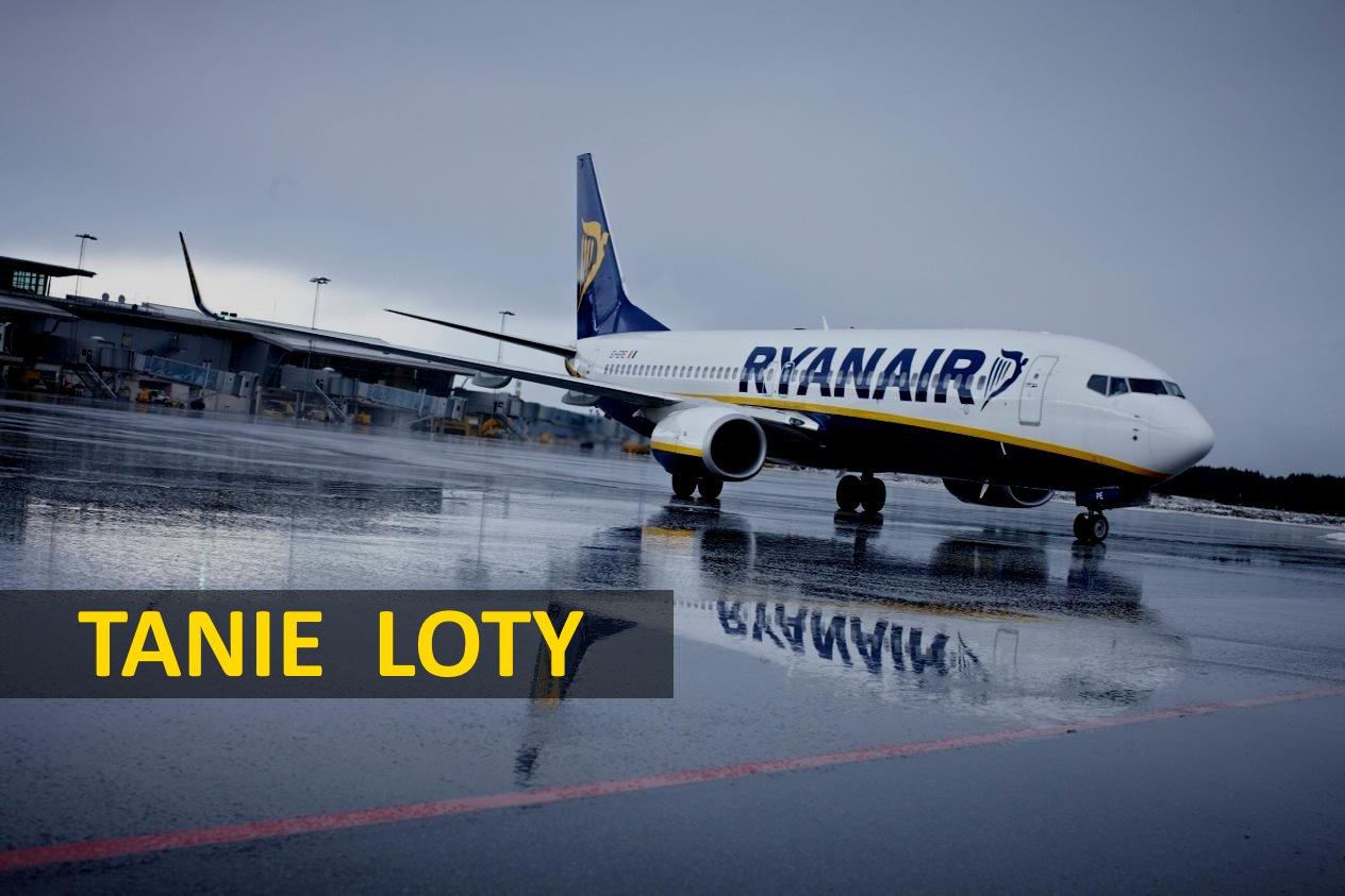 Wyprzedaż w Ryanair (nowe przykładowe trasy i daty)