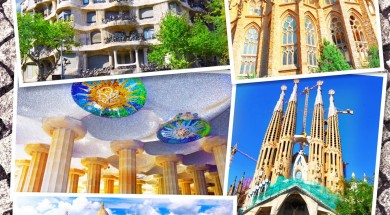 Collage of beautiful Barcelona. Catalonia. Spain