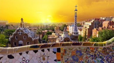 Park Guell museum designed by Antoni Gaudi, Barcelona, Spain.