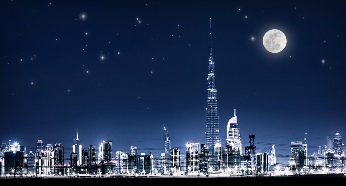 Dubai night cityscape