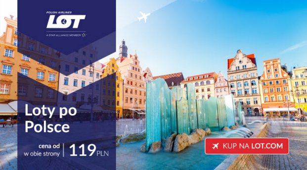 Loty krajowe od 119 PLN w dwie strony (z bagażem w cenie!)