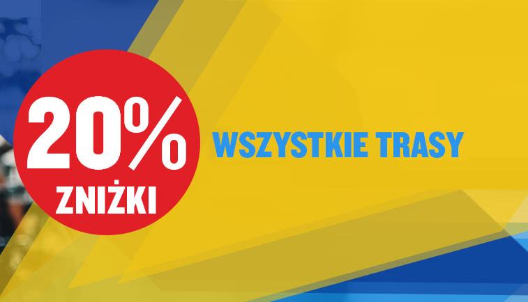 Ryanair: do 20% rabatu na wszystkie trasy z Polski