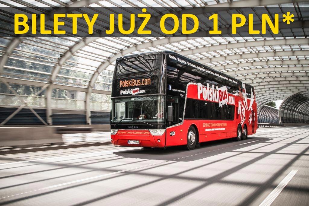 PolskiBus: bilety od 1 PLN* aż do 31 marca!