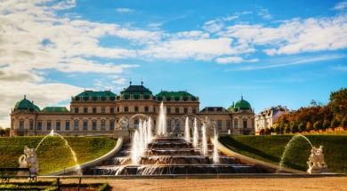 Wieden austria Belvedere palace in Vienna, Austria on a sunny day