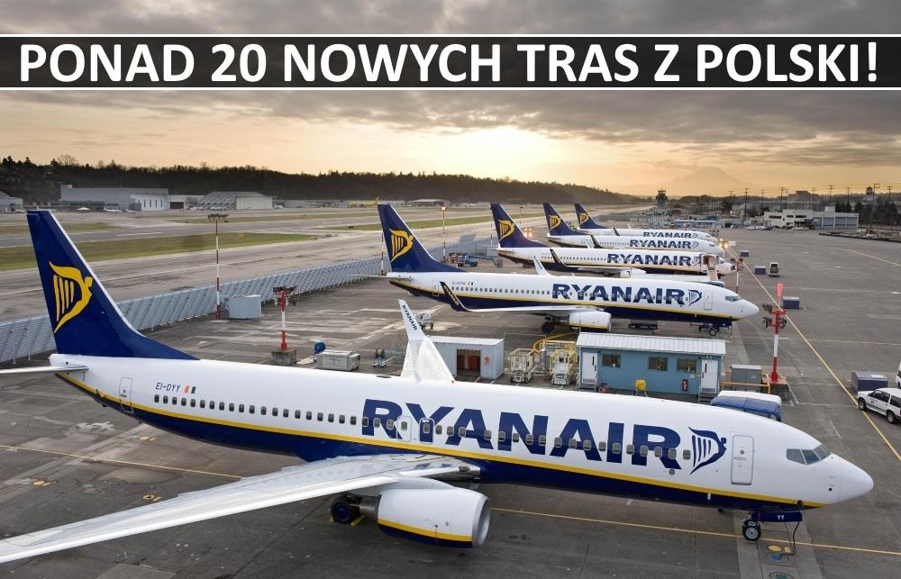Wysyp nowych tras Ryanair z Polski. Sprawdź dokąd będzie można polecieć.
