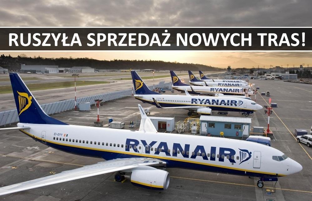Ryanair: ruszyła sprzedaż nowych tras z Polski!