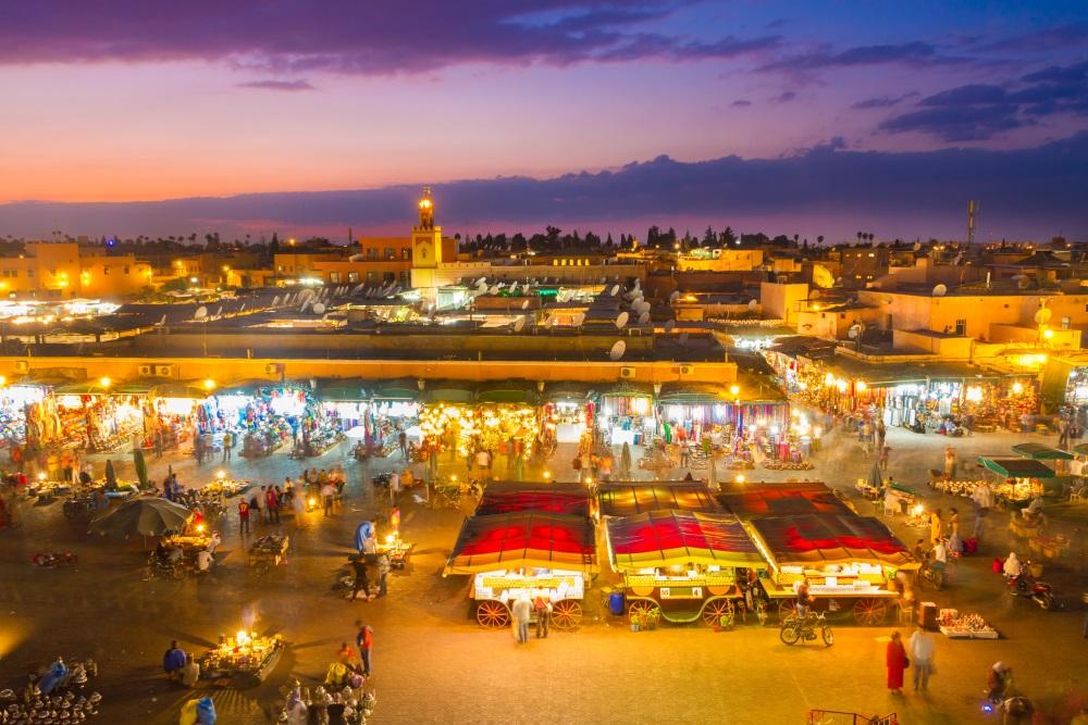 Maroko  Marrakesz marakesz rak Jamaa el Fna, Marrakesh, Morocco.