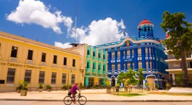 Kuba CAMAGUEY, CUBA - SEPTEMBER 4, 2015: Street view of UNESCO heritage city centre