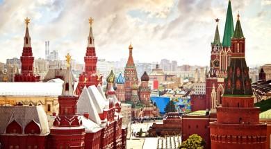 Moskwa kreml Aerial Kremlin view in Moscow