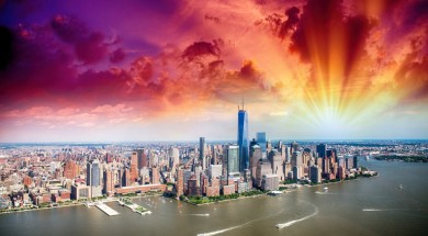nowy jork New York skyline aerial view.