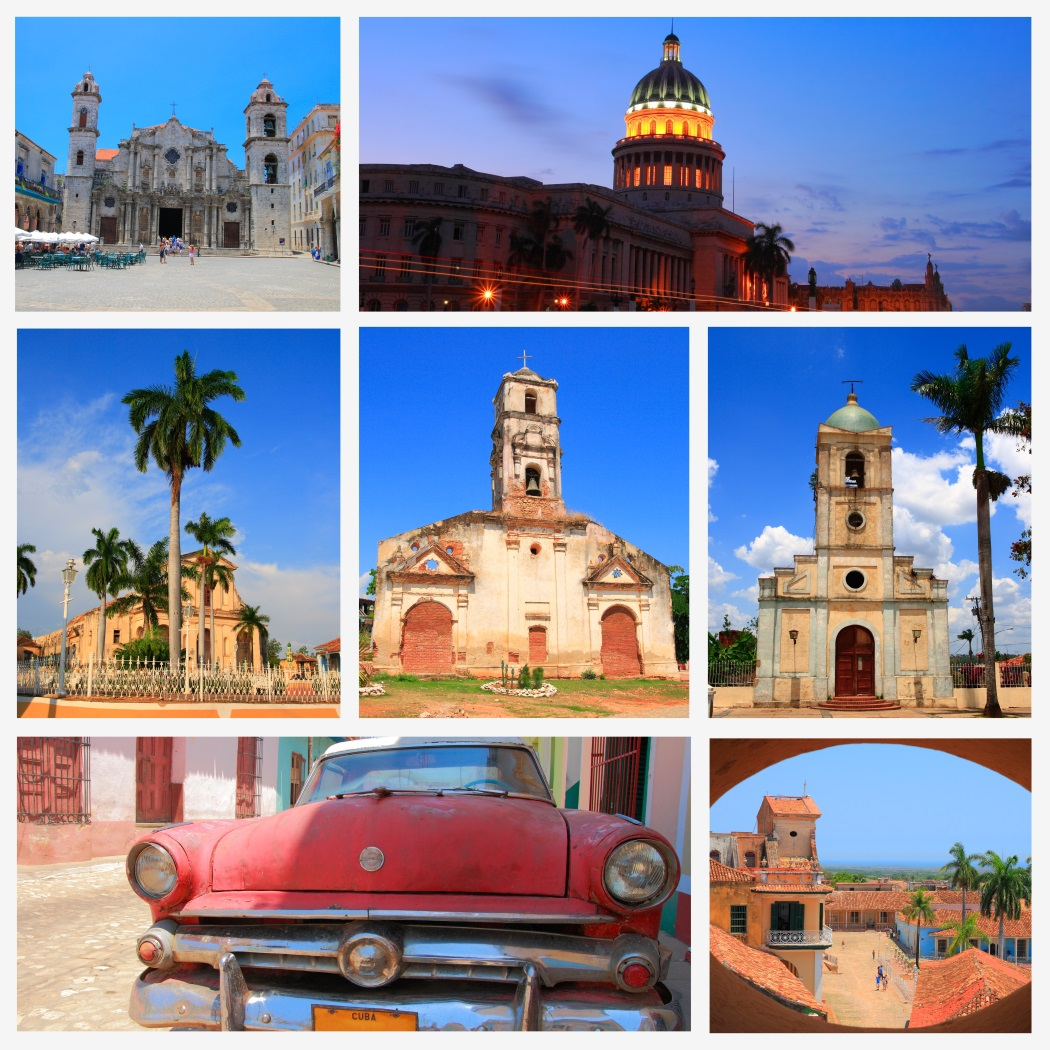 kuba Impressions of Cuba, Collage of Travel Images