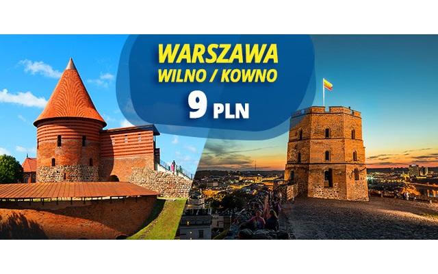 Litwa już od 9 PLN w każdą stronę. Wilno lub Kowno.