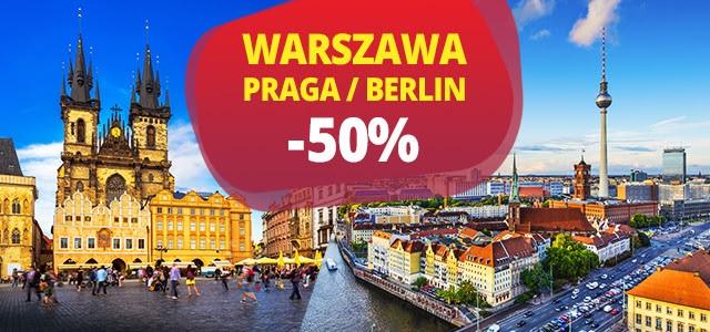 Mega czwartek! Praga i Berlin aż 50% taniej (tylko dzisiaj)