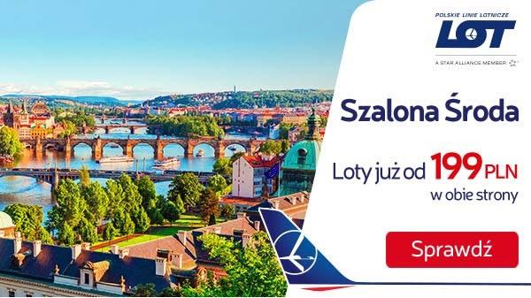 Szalona Środa PLL LOT: kilka tras od 199 PLN RT