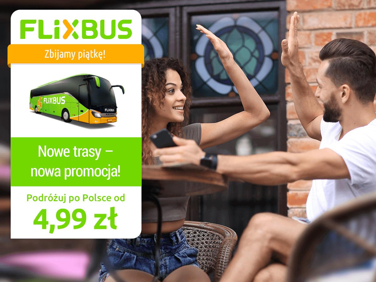 Flixbus: promocja z przejazdami już od 4,99 PLN