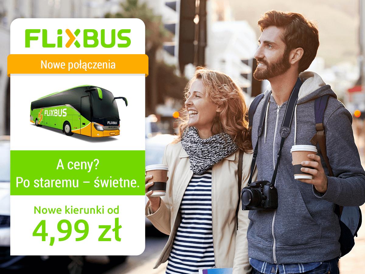Flixbus: bilety na trasy krajowe i międzynarodowe od 4,99 PLN!