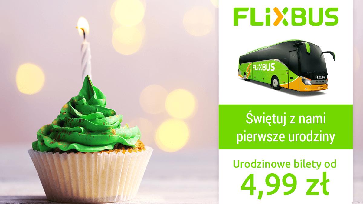 Promocja Flixbus z biletami od 4,99 PLN!