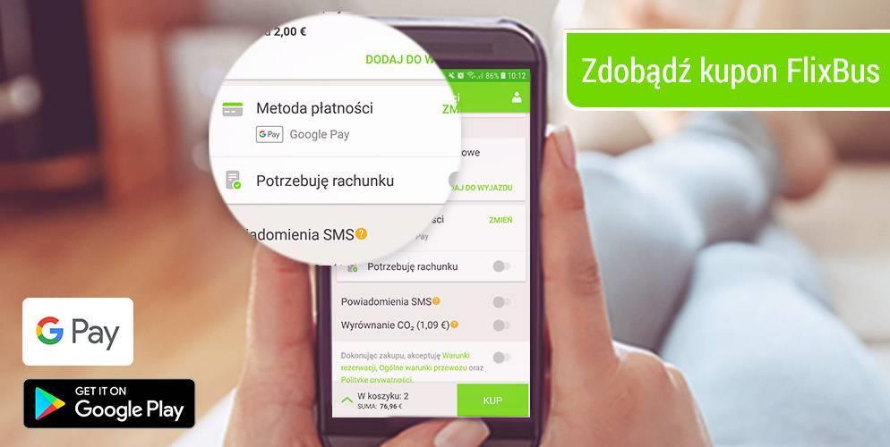 Bon 30 PLN od Flixbusa – za dowolną płatność Google Pay