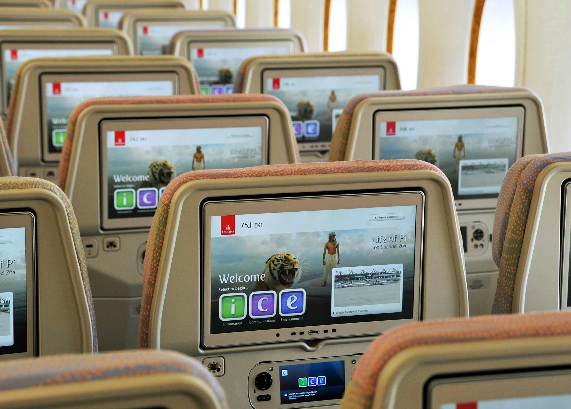 Linie Emirates wprowadzają synchronizację playlist z rozrywką przed podróżą