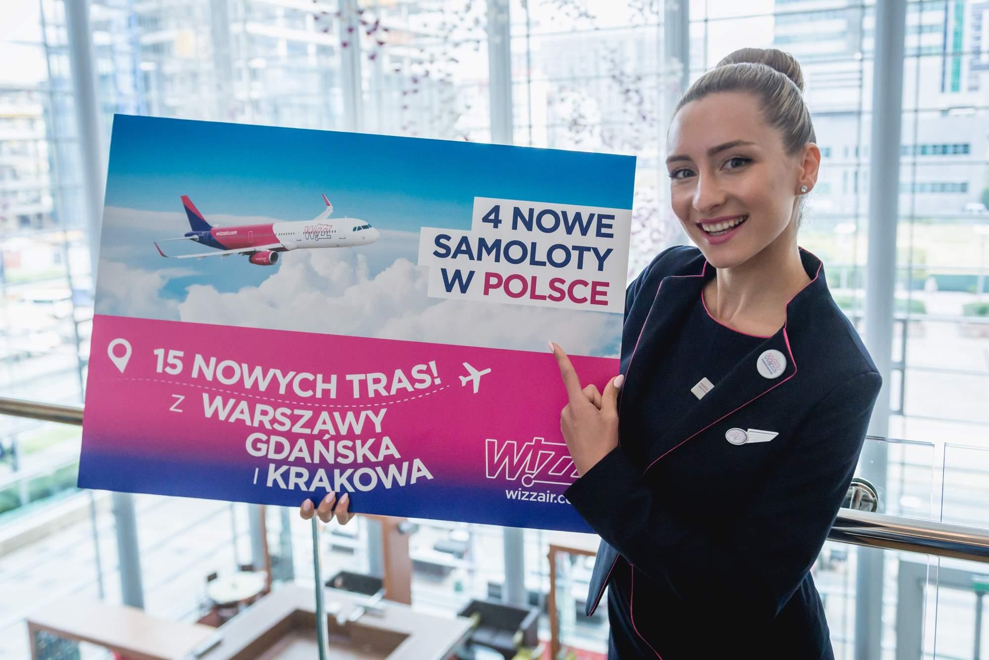 WOW! 15 nowych tras Wizz Air z Polski. A do tego nowe samoloty!