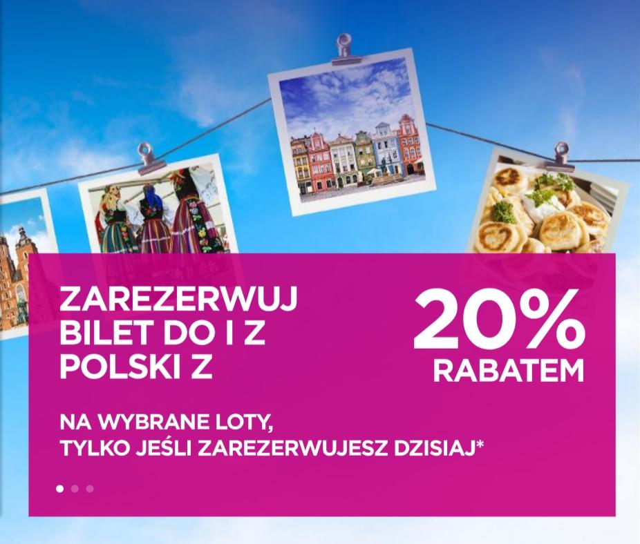 Do 20% zniżki na loty Wizz Air z Polski