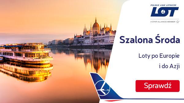 Szalona Środa PLL LOT: loty już od 129 PLN