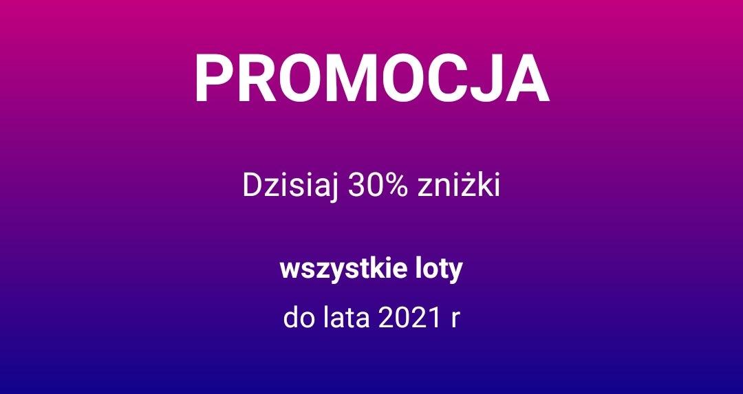 Bardzo rzadka promocja. Do 30% zniżki od Wizz Air!