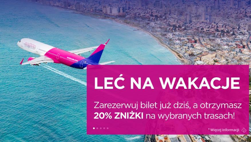 Zniżka na loty Wizz Air na wybranych trasach. Kilka fajnych okazji!