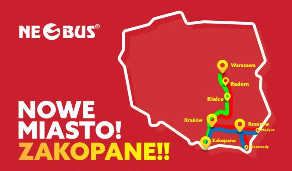 Zakopane już od 1 PLN* – nowe trasy Neobusa!