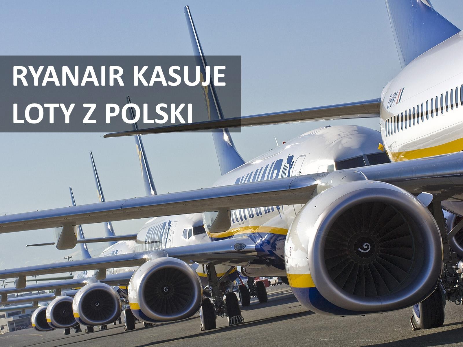 Ryanair kasuje loty na kilkudziesięciu trasach z Polski. Znowu!