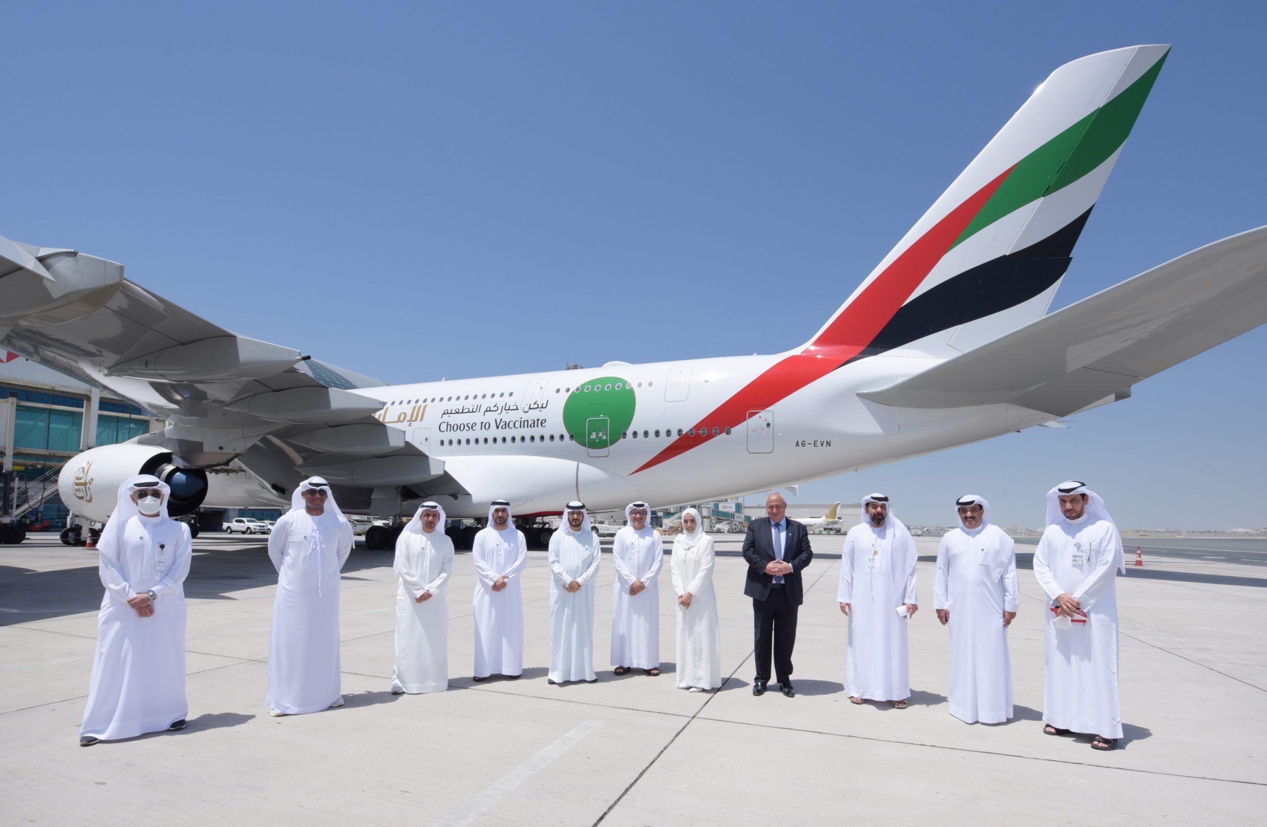Emirates: specjalny lot EK2021 z w pełni zaszczepioną załogą i pasażerami