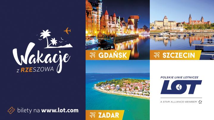 Gdańsk, Szczecin i Zadar w letniej ofercie PLL LOT z Jasionki